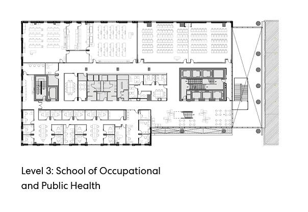 瑞尔森大学达芙妮考克威尔健康科学中心平面图4