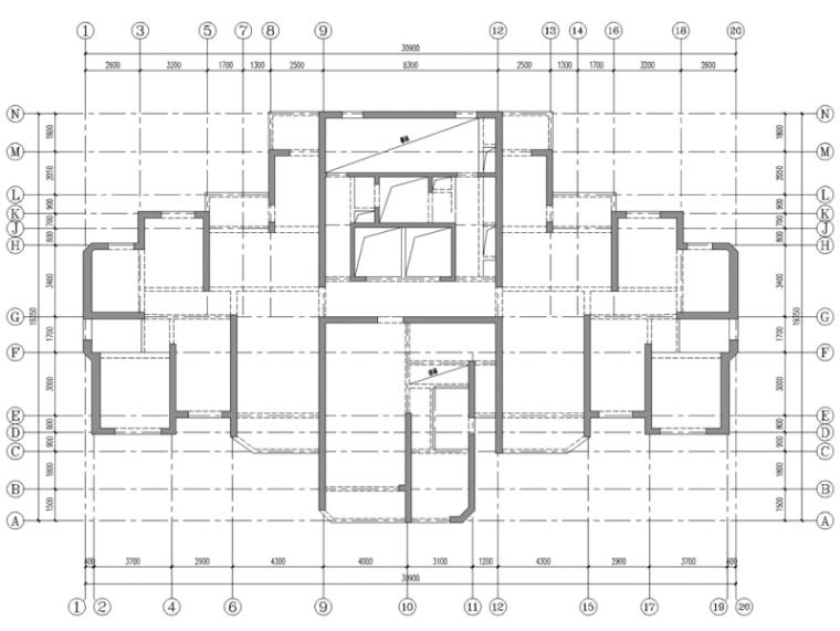 长沙某超高层结构抗震性能设计-标准层结构布置图