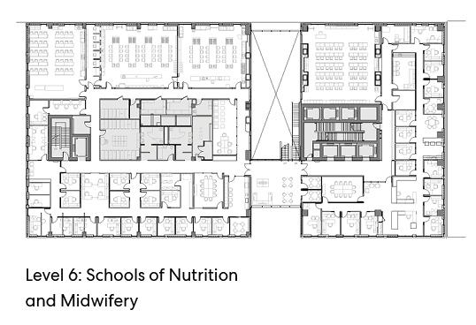 瑞尔森大学达芙妮考克威尔健康科学中心平面图6