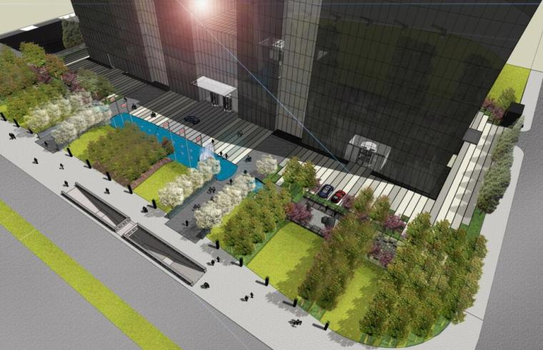 知名企业现代风格商业办公广场景观方案设计 (1)