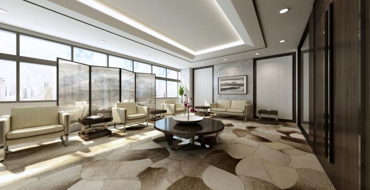 [南京]5200㎡三层银行办公室装修设计施工图-vip贵宾室