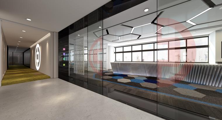 [南京]5200㎡三层银行办公室装修设计施工图-中国银行