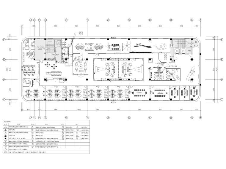 [南京]5200㎡三层银行办公室装修设计施工图-3F强弱电点位图