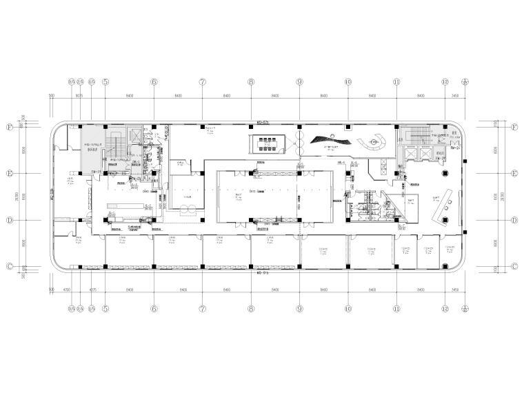 [南京]5200㎡三层银行办公室装修设计施工图-3F给排水布置图