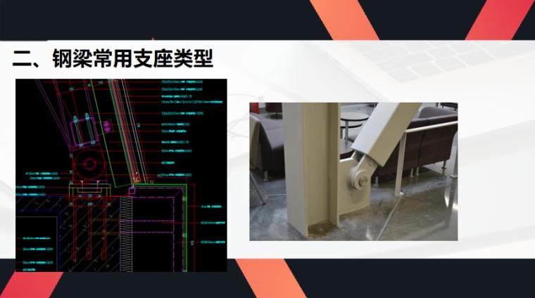钢结构支座选型分析PPT(40页)-钢梁常用支座类型