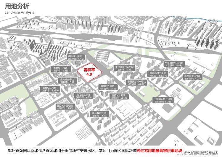 郑州国际新城商墅高层住宅建筑方案文本2019-用地分析