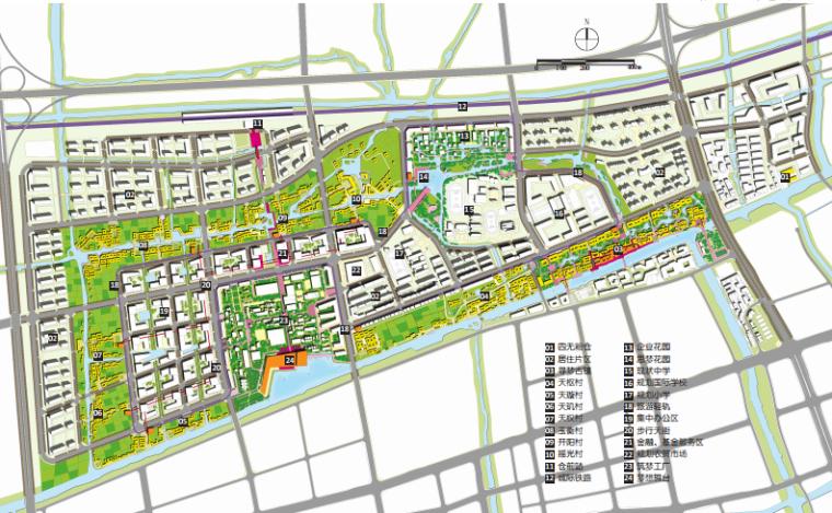 [杭州]滨水田园农业创业休闲小镇概念设计-总平面图