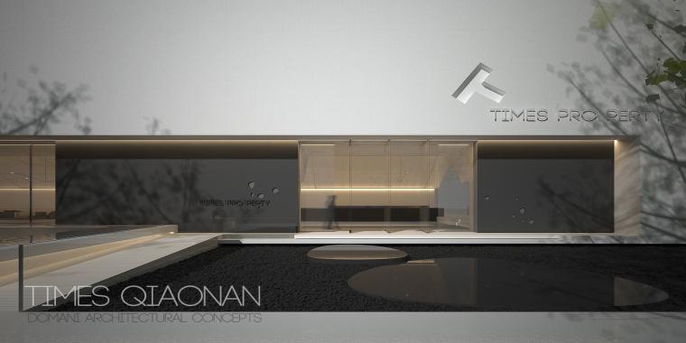 [广东]知名企业销售中心景观施工图+SU模型-0003
