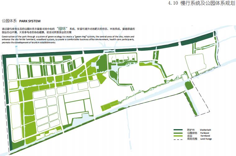 [杭州]滨水田园农业创业休闲小镇概念设计-慢行系统及公园体系规划