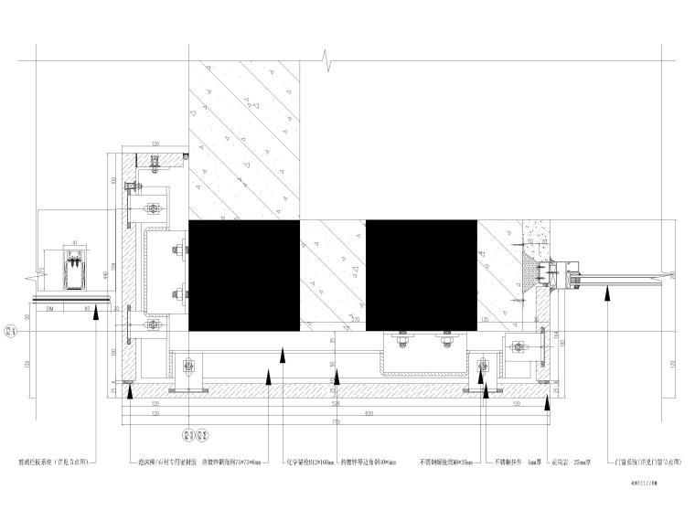 [汕头]住宅小区幕墙设计施工图2017-玻璃栏杆标准大样图