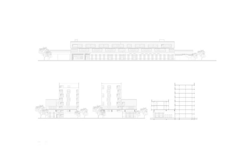 上海黄浦区五里桥路公租房剖立面图