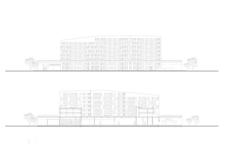 上海黄浦区五里桥路公租房剖立面图1