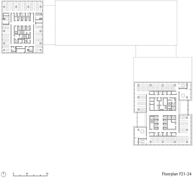 广州唯品会新一代办公空间平面图3