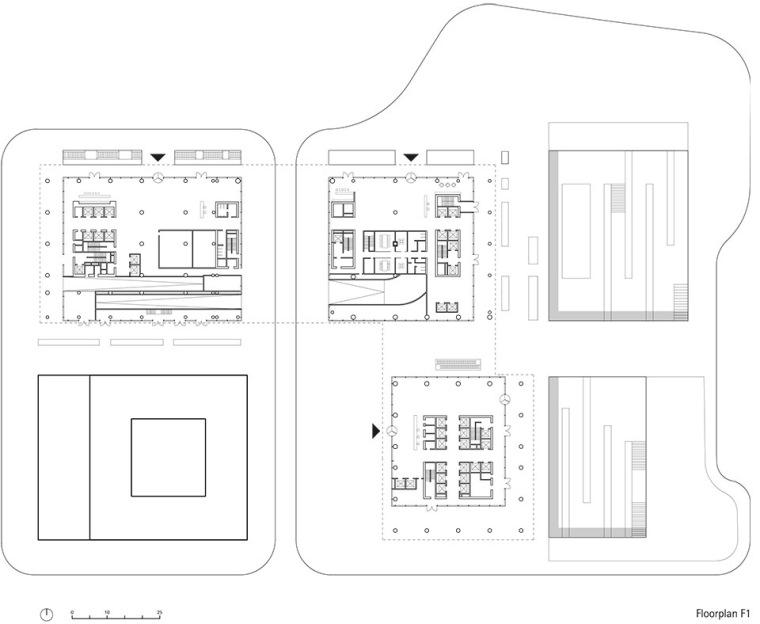 广州唯品会新一代办公空间平面图1