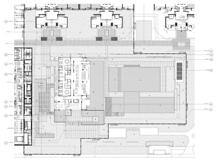 [广东]知名企业销售中心景观施工图+SU模型-总平索引图