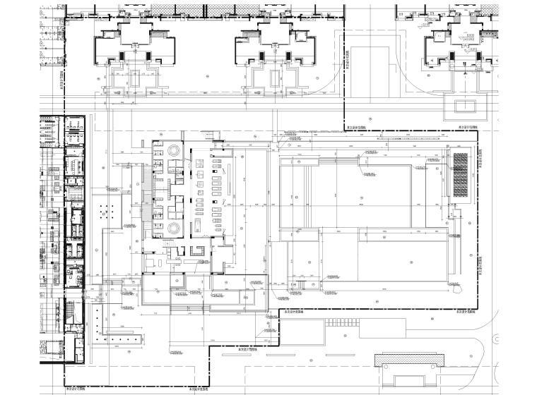 [广东]知名企业销售中心景观施工图+SU模型-总平定位放线图
