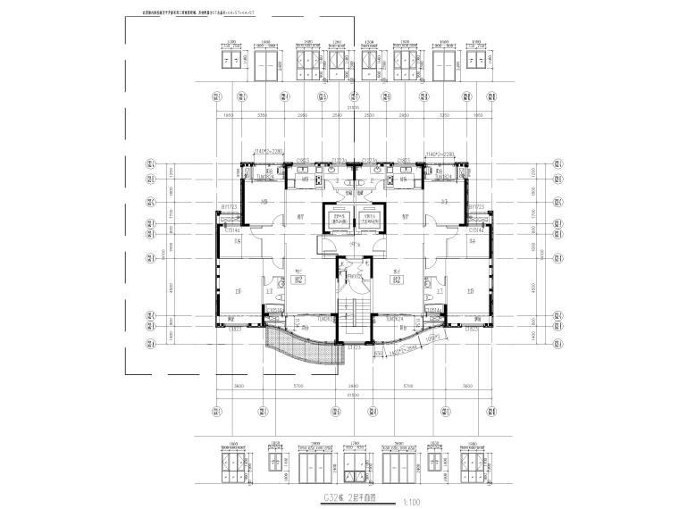 [汕头]住宅小区幕墙设计施工图2017-楼层平面图_2