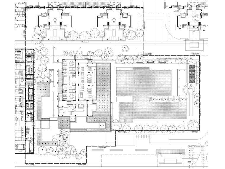 [广东]知名企业销售中心景观施工图+SU模型-总平灯具家具布置图