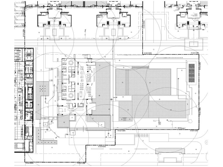 [广东]知名企业销售中心景观施工图+SU模型-给水管线平面布置图