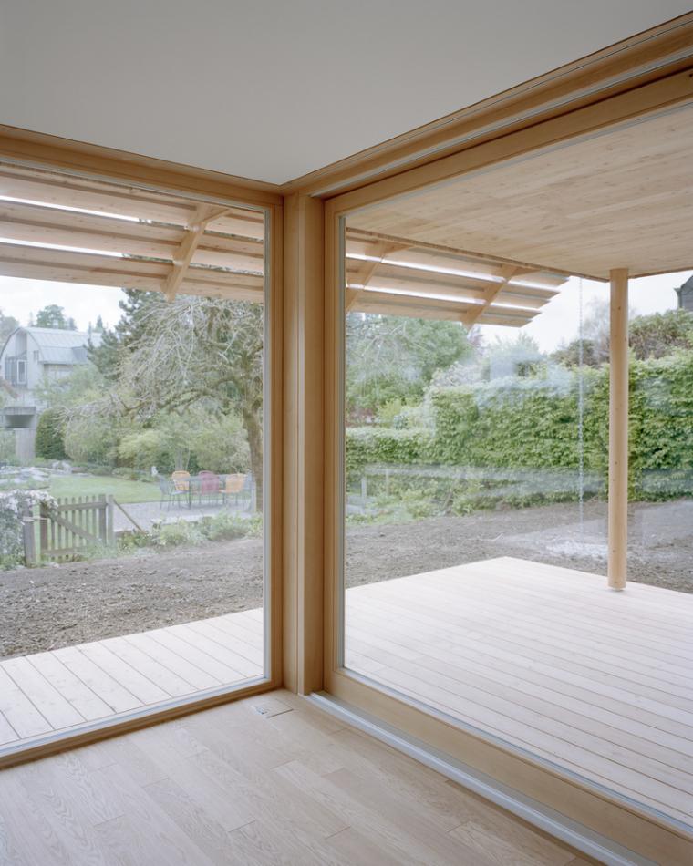 瑞士零能轻木住宅内部实景图