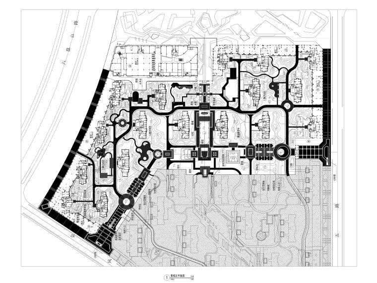 [广西]现代高端示范区园建全套施工图CAD-景观总平面图