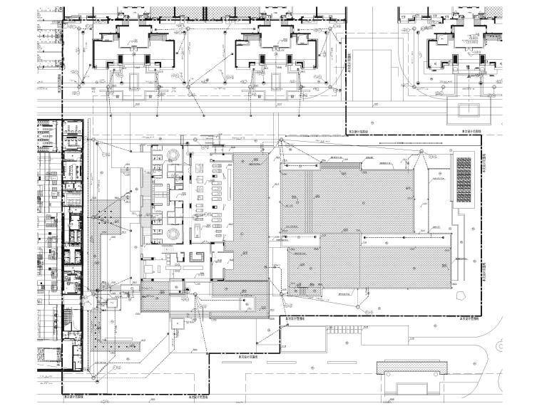 [广东]知名企业销售中心景观施工图+SU模型-排水管线平面布置图