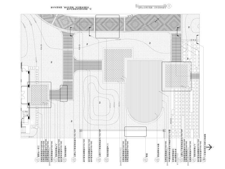 [广西]现代高端示范区园建全套施工图CAD-北落休闲活动区二详图