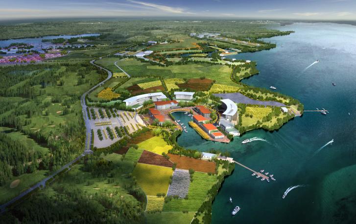 [武汉]后湖海生态休闲农业综合体总体规划-港口小镇效果图