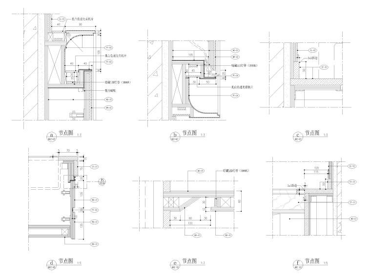 [天津]85㎡现代二居室家装样板间装修施工图-浴室节点详图