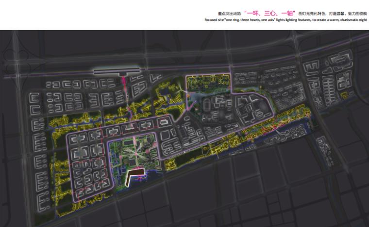 [杭州]滨水田园农业创业休闲小镇概念设计-夜景照明规划