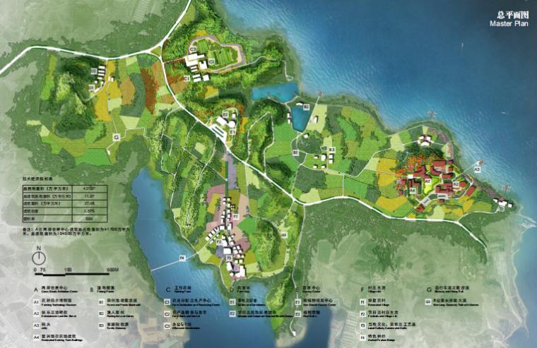 [武汉]后湖海生态休闲农业综合体总体规划-总平面图