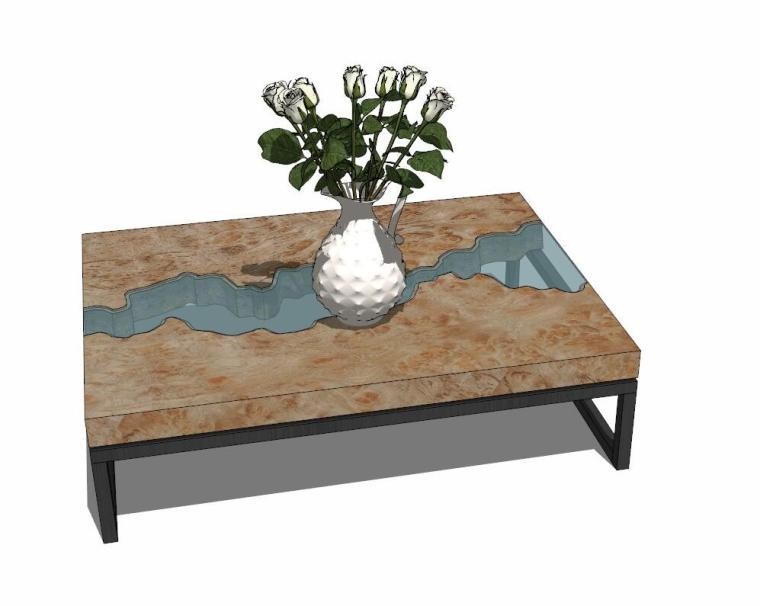 34个工业风格室内茶几+桌模型设计 (3)