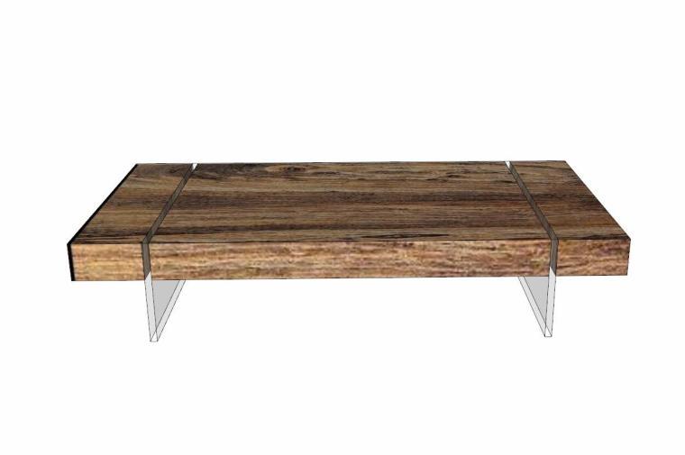 34个工业风格室内茶几+桌模型设计 (5)