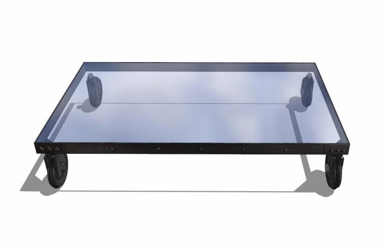 34个工业风格室内茶几+桌模型设计 (8)
