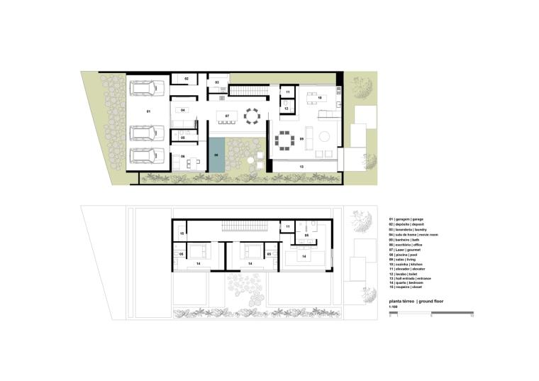 巴西Jabuticabeiras之家平面图