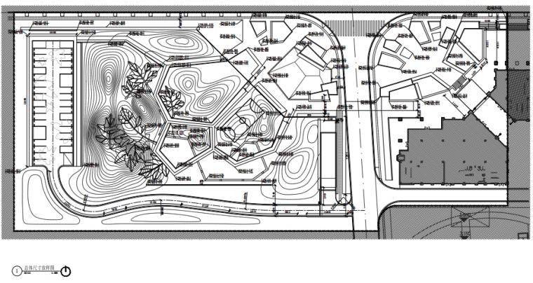 [江苏]现代公园式居住区园建施工图+实景-总平面尺寸放样图