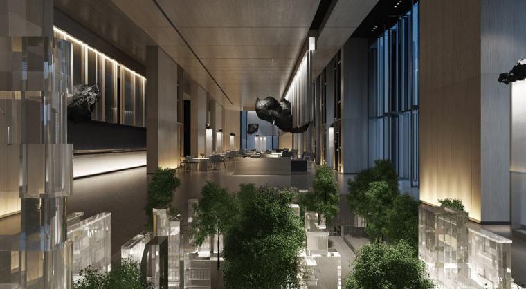 [广东]909㎡时代云图售楼处装修设计施工图-时代罗村售楼部C2