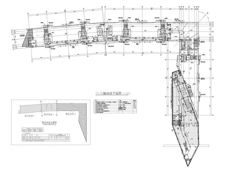 [浙江]汽车试驾体验场展示中心建筑施工图纸-平面图1