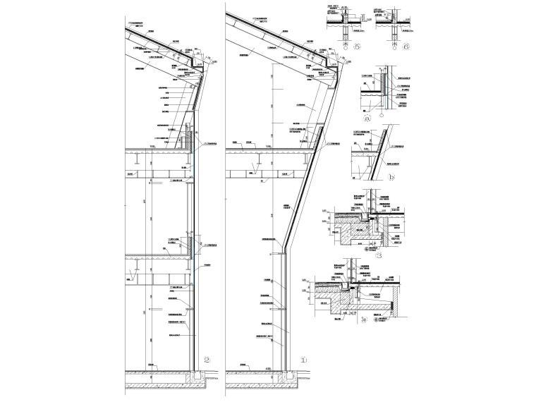 [浙江]汽车试驾体验场展示中心建筑施工图纸-玻璃幕墙大样