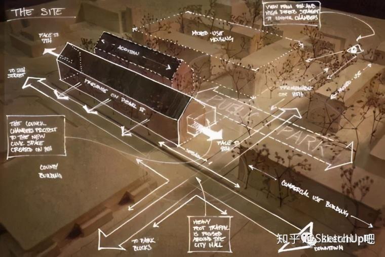如何画出高端大气的建筑设计方案分析图?_21