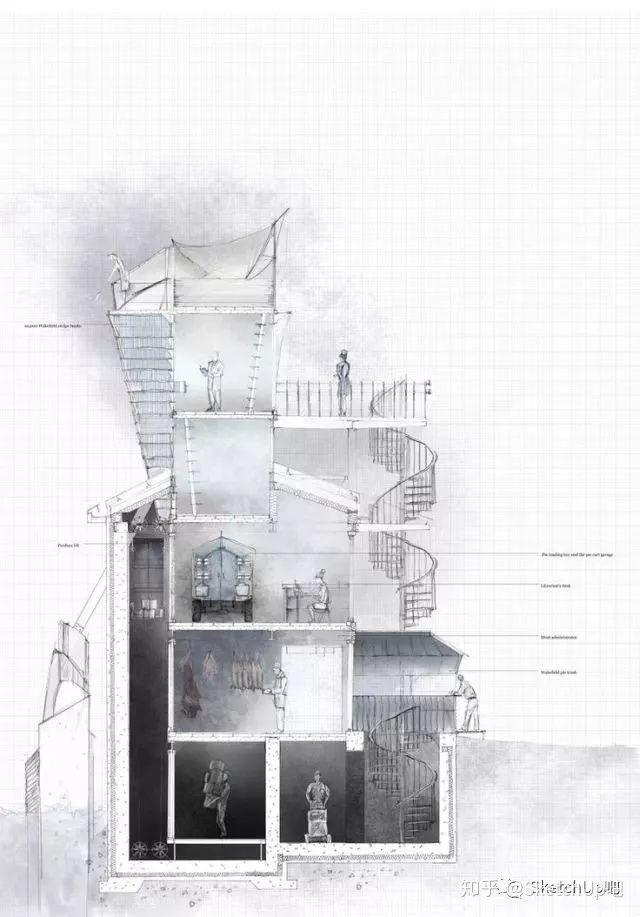 如何画出高端大气的建筑设计方案分析图?_23