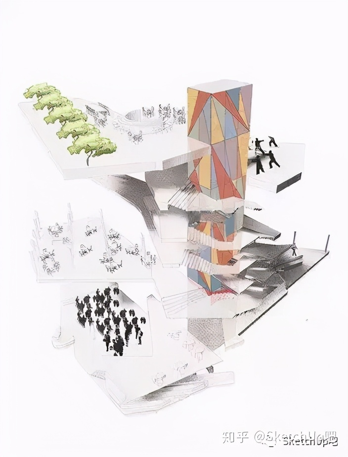 如何画出高端大气的建筑设计方案分析图?_22