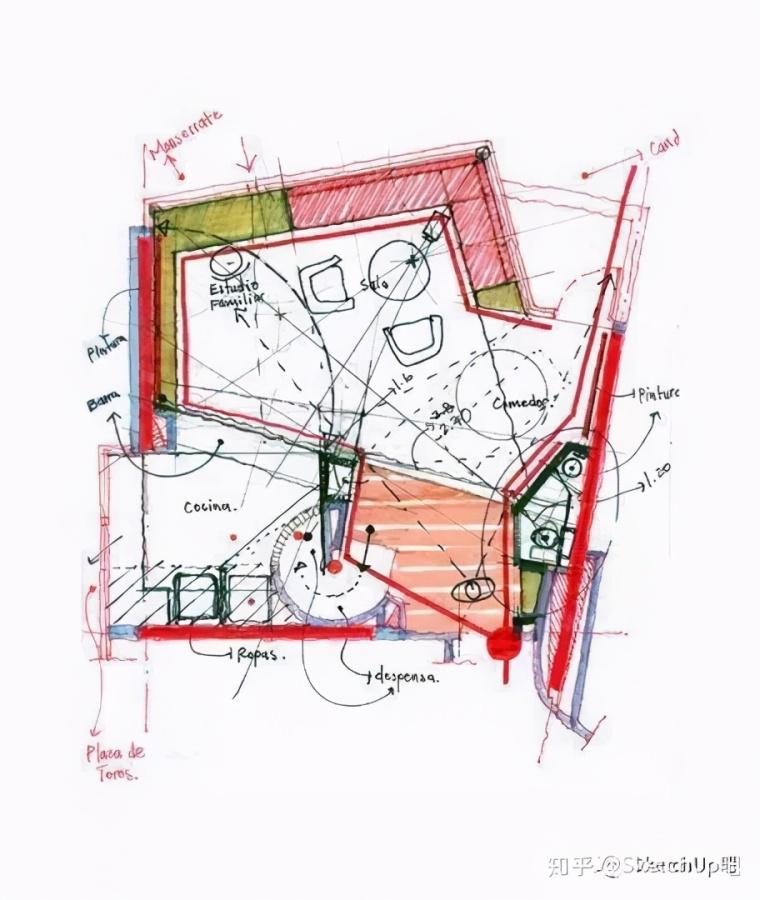 如何画出高端大气的建筑设计方案分析图?_28