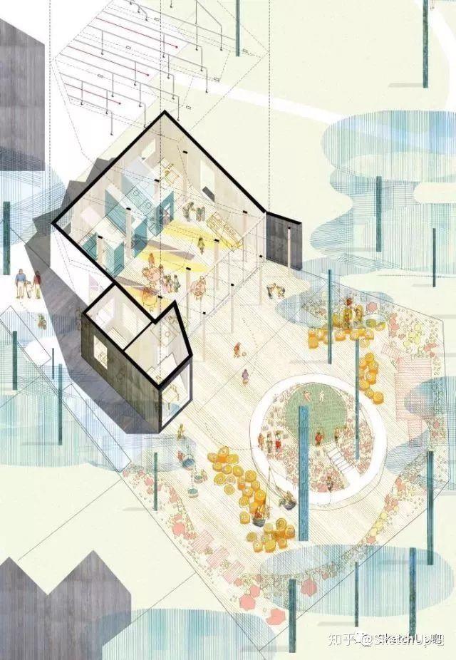 如何画出高端大气的建筑设计方案分析图?_43