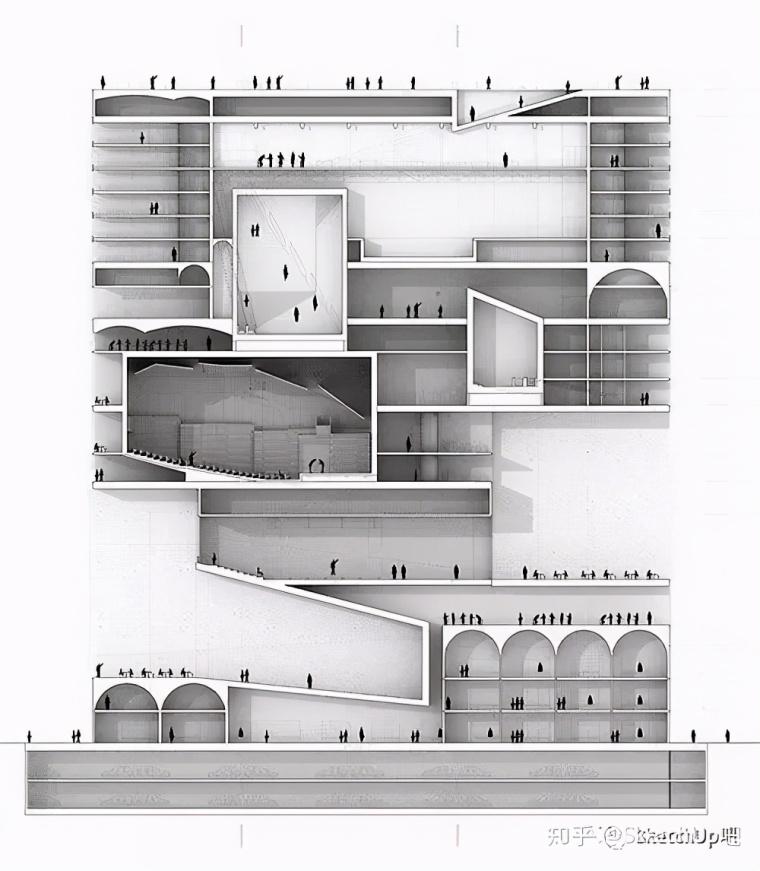 如何画出高端大气的建筑设计方案分析图?_52