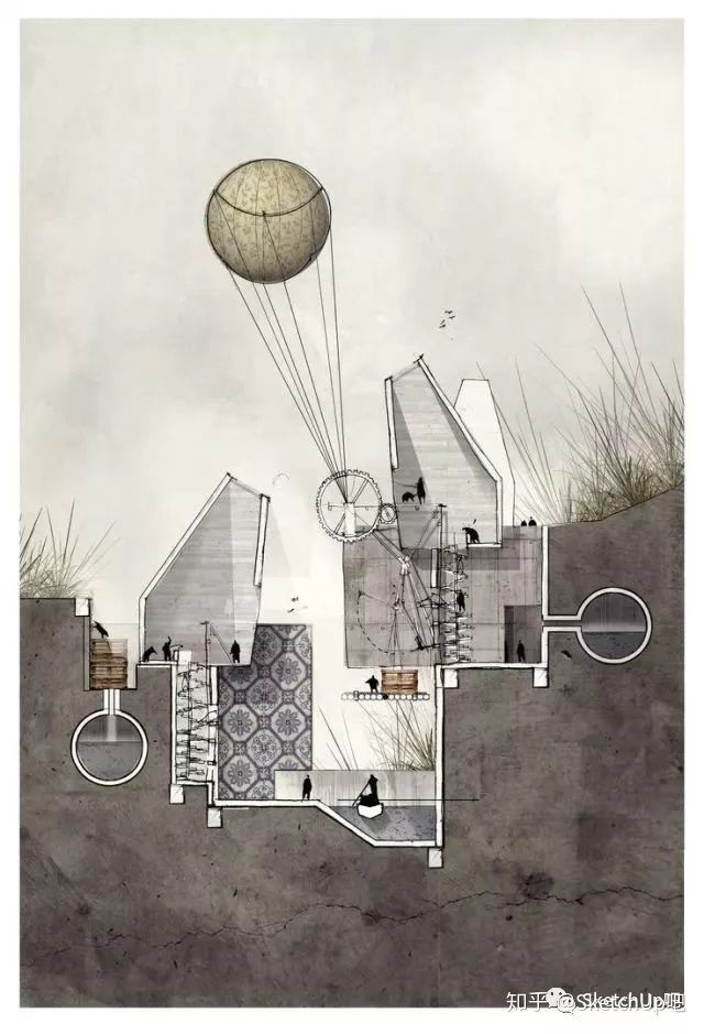 如何画出高端大气的建筑设计方案分析图?_53