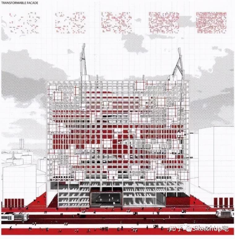 如何画出高端大气的建筑设计方案分析图?_59