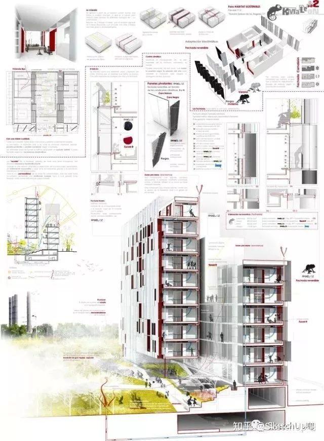 如何画出高端大气的建筑设计方案分析图?_61