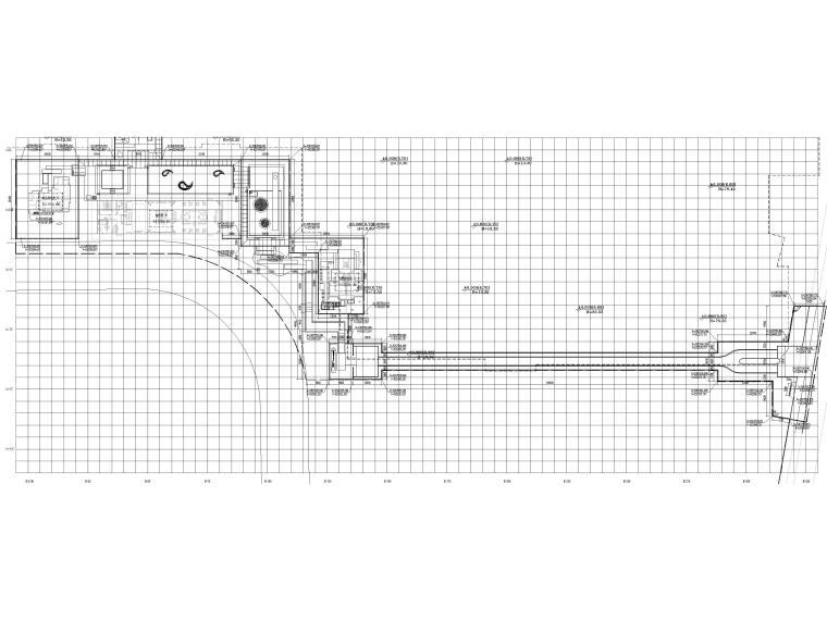 [浙江]居住示范区景观设计施工图+SU模型-总平面定位图