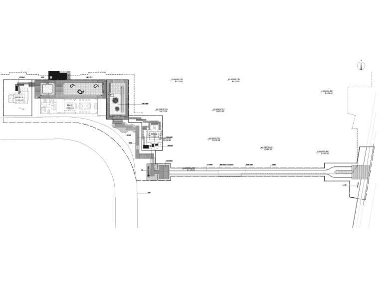 [浙江]居住示范区景观设计施工图+SU模型-总平面图